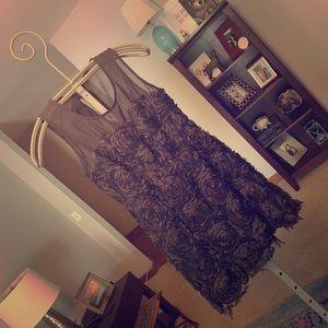 Black Floral Dress, Size L